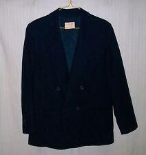 PENDLETON Women's 100% Virgin Wool Navy Blue Double Breasted Lined Blazer 10