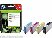 4 Original HP 364XL Ink Cartridges Black Cyan Magenta Yellow Officejet 4610/4620