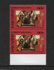 1985 Grenada - Christmas Issue -  Pair - Mint and Unhinged.