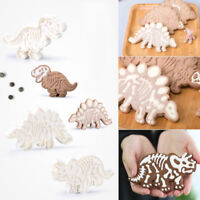 3Pcs Dinosaur Cookies Cutters Mold Biscuit Embossing Cake DIY Decor Baking Mould