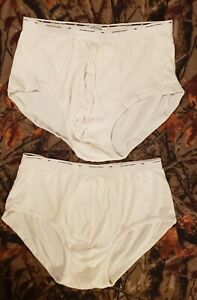 Lot of 2 Rare Men's Vintage Puritan Classics White Briefs Underwear 36 Large