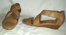AdorableTan Aerosoles A2 YET BACK Size 8.5 M Cosed Heel Sandals Wedge Heel Shoes
