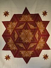 NEW! AUTHENTIC! Hand-Made Lancaster Amish Quilt Diamond Star 101 X 114