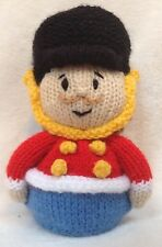 KNITTING PATTERN - Christmas Nutcracker Soldier orange cover or 17 cms toy