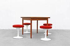 Table à manger Danish Modern 85x85 Teck ausziehtisch Dining Table 50er 50 S 60er 60 s