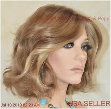 BRAVE THE WAVE LaceFront Vibralite Monopart Wig Raquel Welch R12/26H Honey Pecan