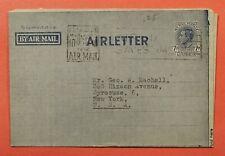 Dr Who 1952 Australia Aerogramme Brisbane To Usa C219456