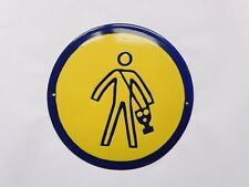 Old East European Industrial Factory Warning Enamel Porcelain Sign