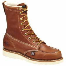 "Thorogood 8"" MOC Toe Wedge Men US 11.5 Brown Work Boot Pre Owned 1120"