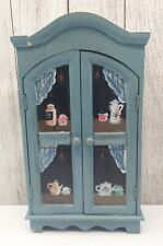 "🔴 Vintage Farmhouse 15.75"" Table Top Display Curio Cabinet Knick Knack Shelves"