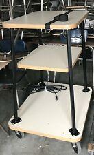 Vintage Three Tier Rolling Cart - Garage / Kitchen Shelf storage Plug in cord
