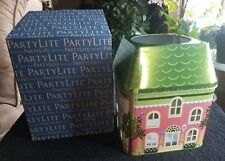 Partylite Retired Spring Village 3-Wick Jar Tin-Nib