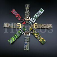 20 22MM Digital Camouflage Rubber Strap Band Fits Breitling Superocean Navi B01