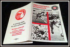 1983 DETROIT LIONS MICHIGAN STATE MICHIGAN WOLVES FOOTBALL POCKET SCHEDULE