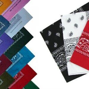 Paisley BANDANA bandanna headwear/hair band scarf neck wrist wrap band head UK