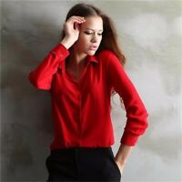 Women Work Wear Shirt Chiffon Elegant Office Blouse Ladies Clothing Wear Tops