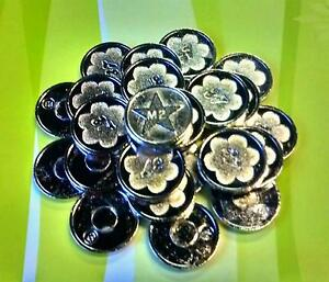 60 Sunbed Tokens M2 silver compatible with L2 sunbed tanning token meter machine