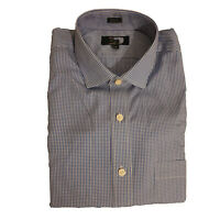 EX Thomas Mason For J. Crew Blue Micro Check Mens Casual Shirts RRP £60