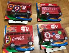 2012 London Olympics Coca Cola Happy Bus Pullback car All 4 types complete