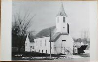 Adrian, MN 1940s Realphoto Postcard: Zion Lutheran Church - Minnesota Minn