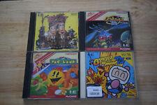 Lot of 4 PC Engine games - Bomberman, Kato & Ken, Pac-land, Galaga - US Seller!