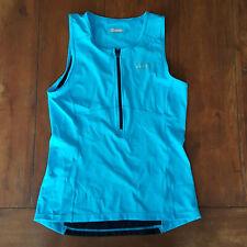 Zoot Mens M Tri Tank Performance Top Blue Compression Triathlon Shirt Medium