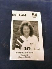 Vintage Michelle Akers-Stahl team USA soccer forward Glossy Press Photo