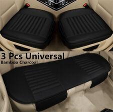Bambuskohle Vordersitzbezug Auto Sitzauflage Sitzbezug Schwarz Leder Universal