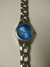 (W) RELIC BY FOSSIL SILVER BLUE DIAL BRACELET WATCH ZR33459 PRE-OWN WORKING BATT
