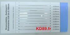 Assortiment de 10 X fil de suspension pour Pendule 400 jours Acier Nivarox