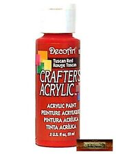 M01479 MOREZMORE DecoArt TUSCAN RED Crafter's Acrylic All Purpose Paint IZB