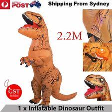 2.2M Inflatable Dinosaur Suit Adult Halloween Costume T-REX Jurassic Fancy Dress