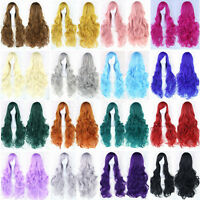 Women Fashion Lady Anime Long Curly Wavy Hair Party Cosplay Costume Full Wig 45