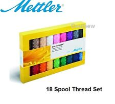 Mettler Machine Embroidery Thread box set Poly Sheen - 18 Most Common Colours