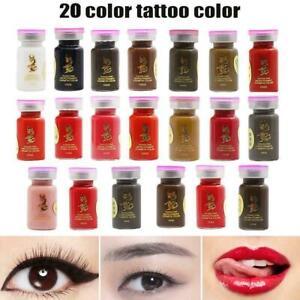 Semi Permanent Eyebrow Ink Lip Eye Line Tattoo Color Pigment Microblading P3Z3