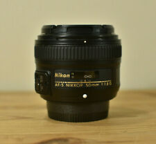 NIKON AF-S NIKKOR 50MM 1:1.8G PRIME LENS WITH FRONT & REAR CAPS FULL FRAME