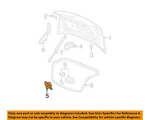 Trunk Striker Chevrolet Malibu 08 09 10 11 12 GM OEM 15938023 E3