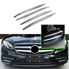 4PC Chrome ABS Fog Lamps Front Grille Cover Trim For 2016-up Benz E200 E300 W213