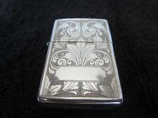 STERLING SILVER Zippo Lighter Engraved Floral Filigree Excellent Used Condition
