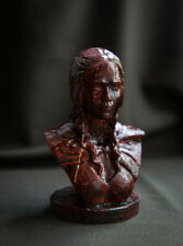 """Carved sculpture """"Daenerys Targaryen bust, Game of Thrones"""", small size"""
