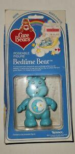 Vintage 1982 Care Bears Bedtime   Bear Poseable Figure Sealed Box Kenner