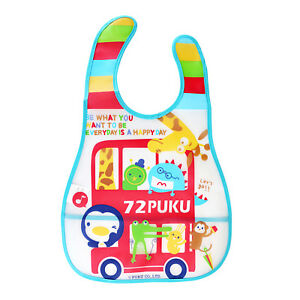 PuKu Waterproof Bib Bus - Catch Dropped Food