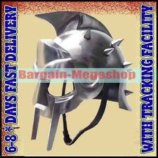 Fully Wearable Gladiator Movie Helmet Roman Arena Knight Maximus Armour Helmet A