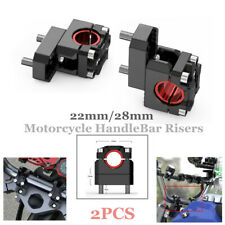 Pair 22mm/28mm Type Motorcycle HandleBar Risers Handle Bar Mount Clamp Riser Kit