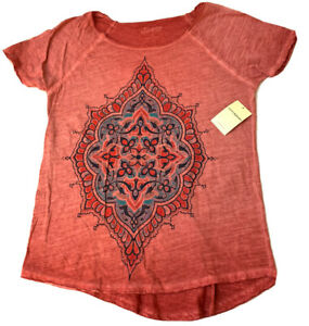 LUCKY BRAND  ~WOMENS RED GRAPHIC TEE ~ SMALL  NEW