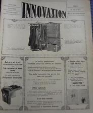 PUBLICITE de presse INNOVATION Malle tiroir bagagerie 1914