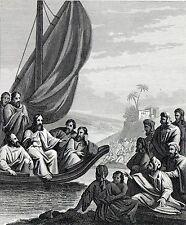 Antique religious print : Jesus Commissioning the twelve apostles / Matthew 1864