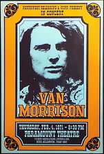 VAN MORRISON - HIGH QUALITY 1971 CONCERT POSTER - LOOKS AWESOME FRAMED