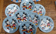 Vintage LOT 8 Packs MINNIE Mickey DISNEY Romance 7 inch PLATES Wedding CUTE!!