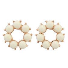 Crystal Stud Stone Costume Earrings